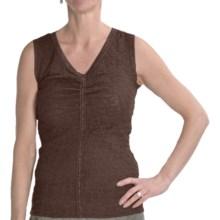 Renuar Lace Shirt - V-Neck, Sleeveless (For Women) in Hot Fudge - Closeouts
