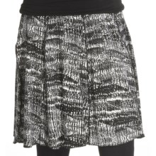Renuar Printed Jersey Skirt (For Women) in Black - Closeouts