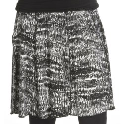 Renuar Printed Jersey Skirt (For Women) in Black