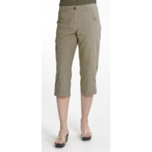 Renuar Ripstop Cotton Paris Fit Capri Pants (For Women) in Cactus - Closeouts