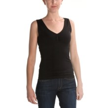 Renuar Seamless Knit Shirt - V-Neck, Sleeveless (For Women) in Black - Closeouts