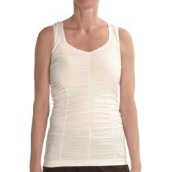 Renuar Shirred Knit Shirt - Sleeveless (For Women) in Off White