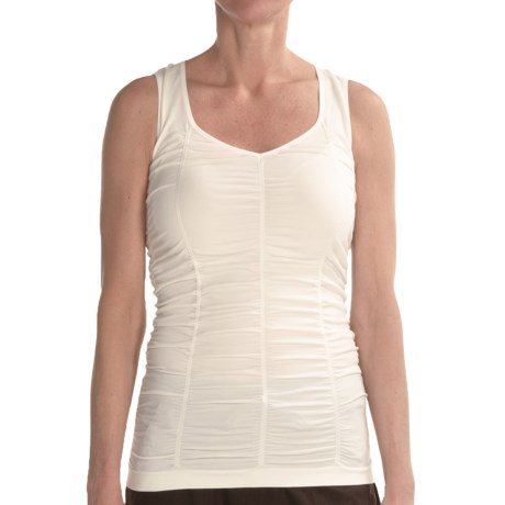 Renuar Shirred Knit Shirt - Sleeveless (For Women) in Off White