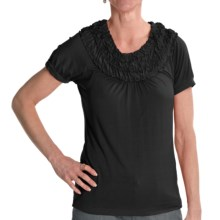 Renuar Stretch Jersey Shirt - Short Sleeve (For Women) in Black - Closeouts