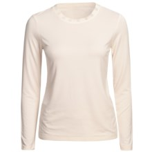 Renuar Stretch Shirt - Long Sleeve (For Women) in Offwhite - Closeouts