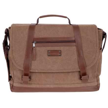 Renwick Messenger Bag in Brown - Closeouts