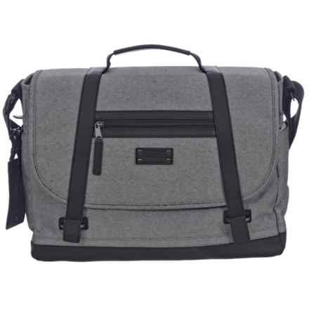 Renwick Messenger Bag in Gray - Closeouts