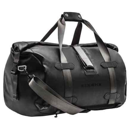 Renwick Roll Top Duffel Bag in Black - Closeouts