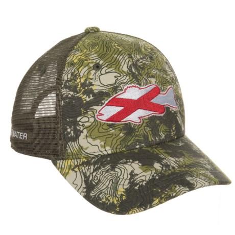 Rep Your Water Alabama Topocamo Trucker Hat (For Men) in Topocamo