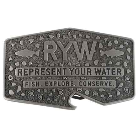 Rep Your Water Banks and Brews Belt Buckle - Stainless Steel (For Men) in See Photo - Closeouts