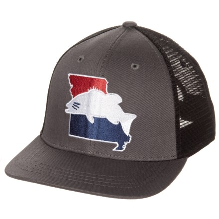 78dcde33 Rep Your Water Missouri Smallie Trucker Hat (For Men) in Gray/Black