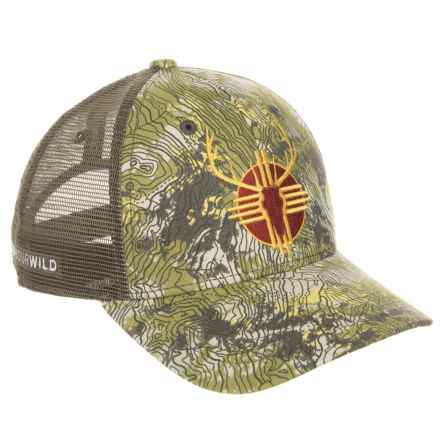 Rep Your Water New Mexico Elk Trucker Hat (For Men) in See Photo - Closeouts