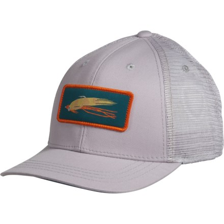 4b64fe02e5c0c Rep Your Water Shrimp Snack Trucker Hat (For Men) in Light Gray Light