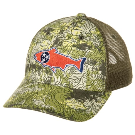 a70ad345eef95 Rep Your Water Tennessee Trout Camo Low-Profile Trucker Hat (For Men ...