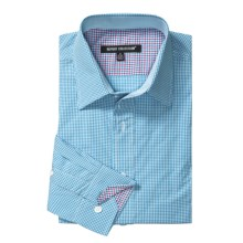 Report Collection Cotton Gingham Shirt - Long Sleeve (For Men) in Aqua - Closeouts