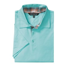 Report Collection Cotton Polo Shirt - Short Sleeve (For Men) in Aqua - Closeouts