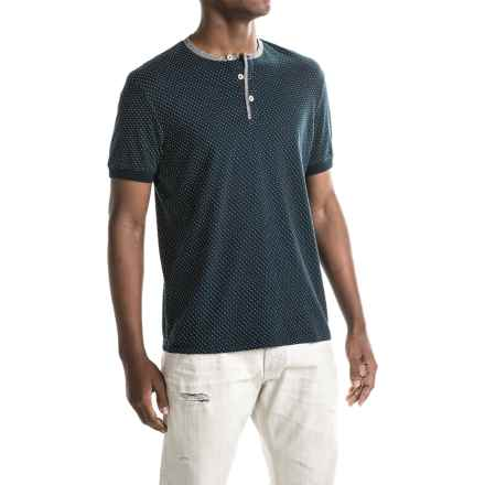 Report Collection Dot Henley Shirt - Short Sleeve (For Men) in Navy - Closeouts