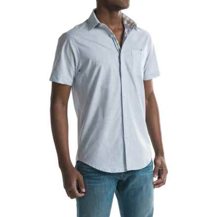 Report Collection Fleck Solid Sport Shirt - Short Sleeve (For Men) in Light Blue - Closeouts