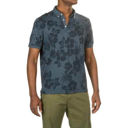 Report Collection Floral Polo Shirt - Short Sleeve (For Men) in Navy - Closeouts