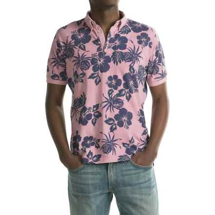 Report Collection Floral Polo Shirt - Short Sleeve (For Men) in Pink - Closeouts