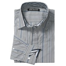 Report Collection Multi-Color Stripe Sport Shirt - Cotton, Long Sleeve (For Men) in Ink - Closeouts