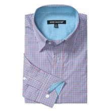 Report Collection Multi-Gingham Shirt - Long Sleeve (For Men) in Pink - Closeouts