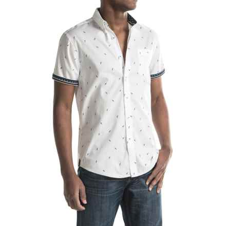 Report Collection Soaring Bird Print Sport Shirt - Short Sleeve (For Men) in White - Closeouts