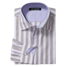 Report Collection Stripe Shirt - Contrast Collar and Cuffs, Long Sleeve (For Men) in Lavender - Closeouts