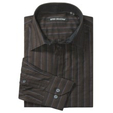 Report Collection Stripe Sport Shirt - Cotton, Long Sleeve (For Men) in Brown - Closeouts