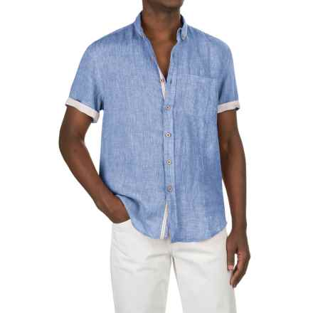 Report Collection Yarn-Dyed Linen Shirt - Short Sleeve (For Men) in Chambray - Closeouts