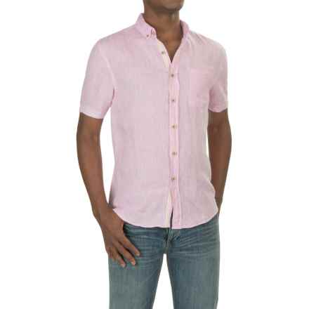Report Collection Yarn-Dyed Linen Shirt - Short Sleeve (For Men) in Kennedy Pink - Closeouts