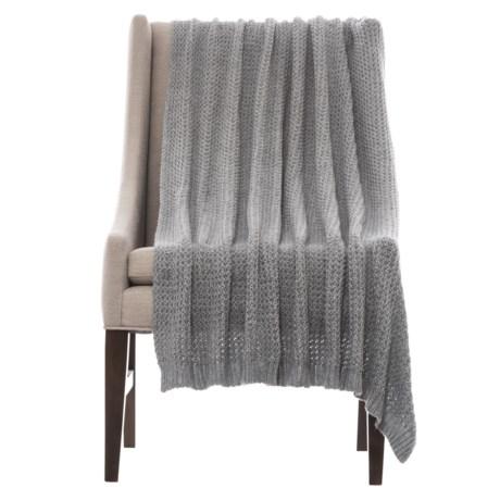 "repreve City Chic Double-Crochet Throw Blanket - 50x60"" in Grey"