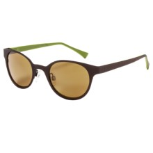 Reptile Basilisk Sunglasses - Polarized, Polynium Lenses in Chocolate Green/Gold - Closeouts