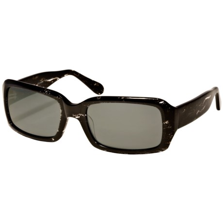 Reptile Scarlet Sunglasses - Polarized (For Women) in Black Crystal/Grey