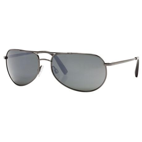 Reptile Sipedon Sunglasses - Polarized Glass Lenses in Dark Gunmetal/Grey