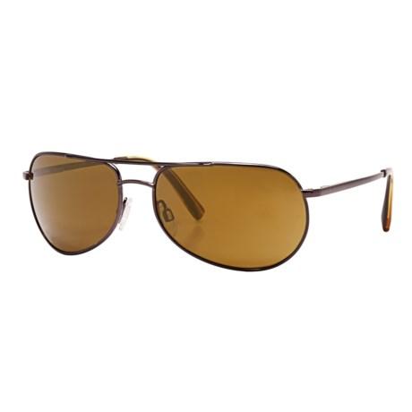 Reptile Sipedon Sunglasses - Polarized Glass Lenses in Espresso/Gold