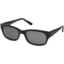 Reptile Slevin Sunglasses - Polarized in Black/Black Ice - Closeouts