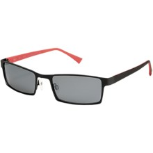 Reptile Sobek Sunglasses - Polarized in Black/Red/Black Ice - Closeouts