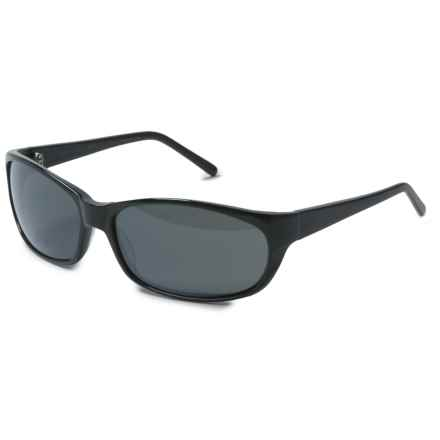 Reptile Sun Brady Wrap Sunglasses - Polarized in Black/Titanium Black - Closeouts