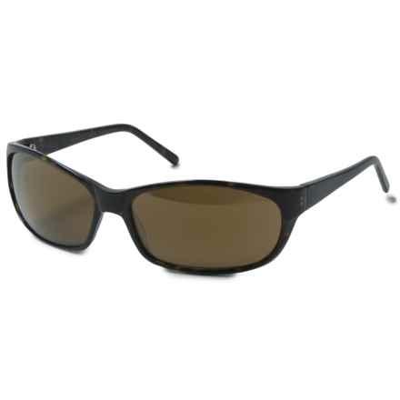 Reptile Sun Brady Wrap Sunglasses - Polarized in Dark Tortoise/Gold - Closeouts
