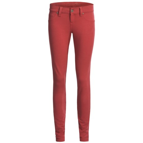 Request Jeans French Terry Jeggings - Low Rise (For Women) in Ruby