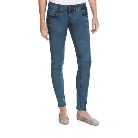 Request Jeans Pigment-Dyed Skinny Jeans - Low Rise (For Women) in Azure