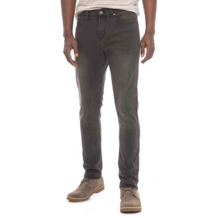 REQUEST Request Jeans Washed Slim Fit  Stretch Jeans (For Men) in Black - Closeouts