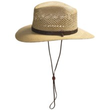 Resistol Airway Hat - UPF 50+, Panama Straw, Pinchfront (For Men) in Natural - Closeouts