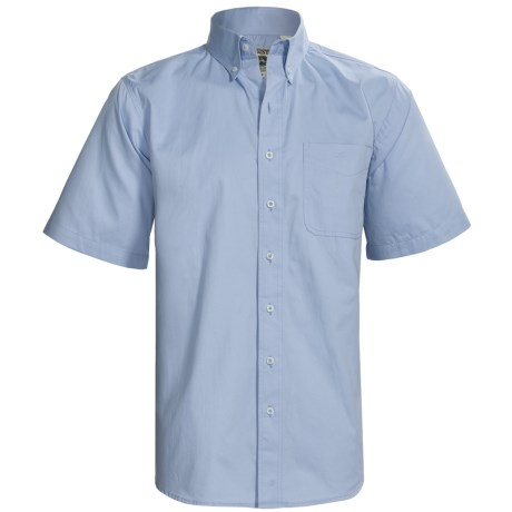 Resistol Cotton Twill Shirt - Short Sleeve (For Men) in Resistol Blue