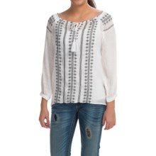 Resistol Embroidered Loretta Blouse - 3/4 Sleeve (For Women) in White - Closeouts