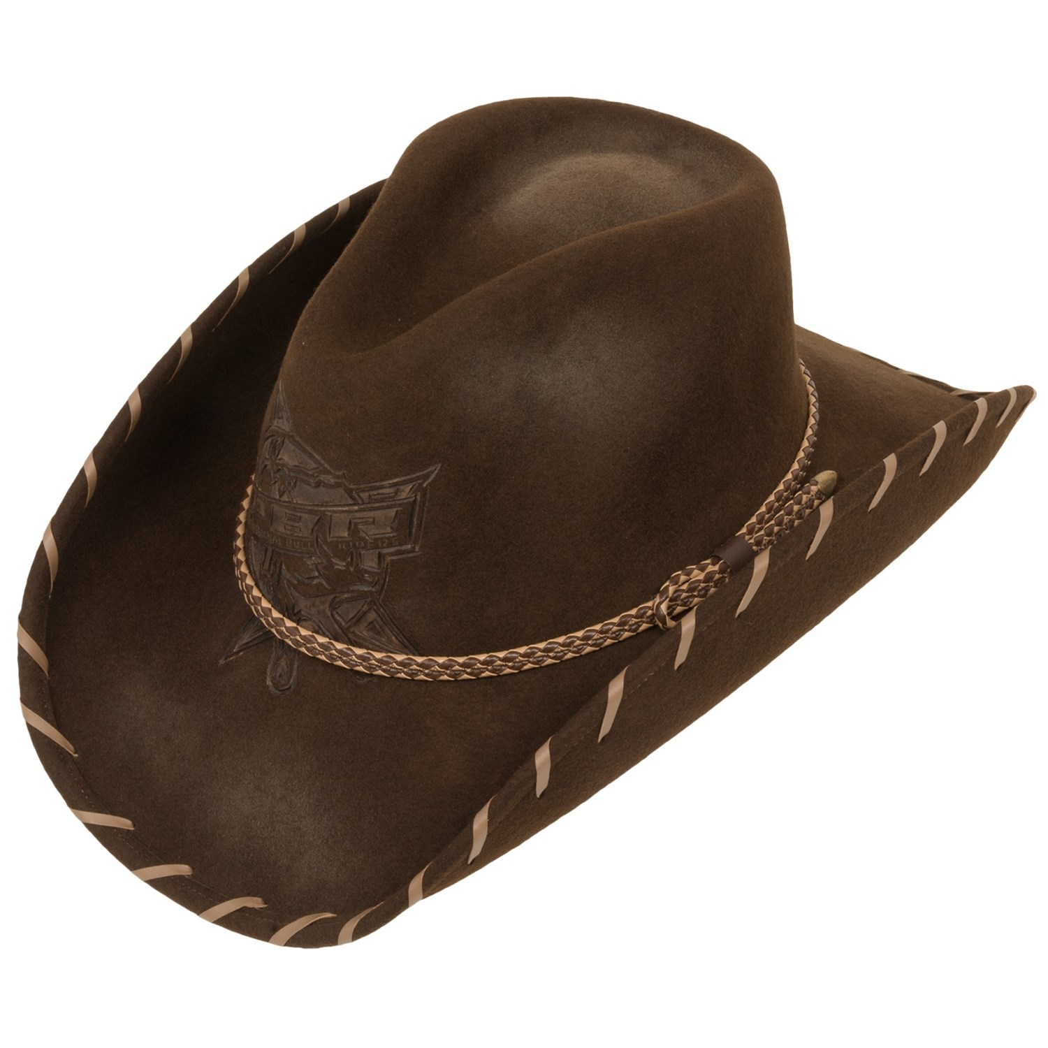 2a40adea89f58 Top 10 Best Western Hats For Men Felt Felt Cowboy Hats For Men  Resistol  PBR Challenger Cowboy Hat