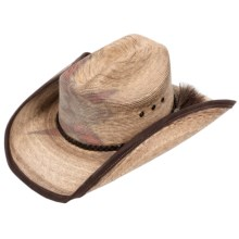 Resistol PBR Cowboy Hat - Straw, Cattleman Crown (For Men and Women) in Straw - Closeouts