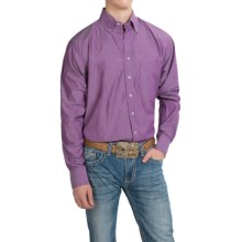 Resistol Ranch Solid Western Shirt - Long Sleeve (For Men) in Purple - Closeouts