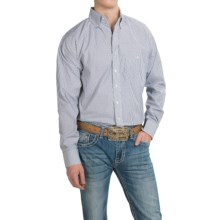 Resistol Ranch Western Shirt - Long Sleeve (For Men) in Blue/White Stripe - Closeouts